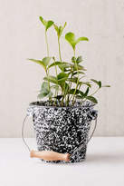 Urban Outfitters Speckled Pail Planter