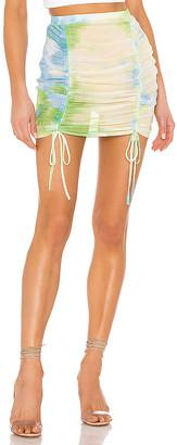 superdown Jillian Ruched Beach Skirt
