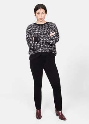 MANGO Violeta BY Slim-fit corduroy pants black - 10 - Plus sizes