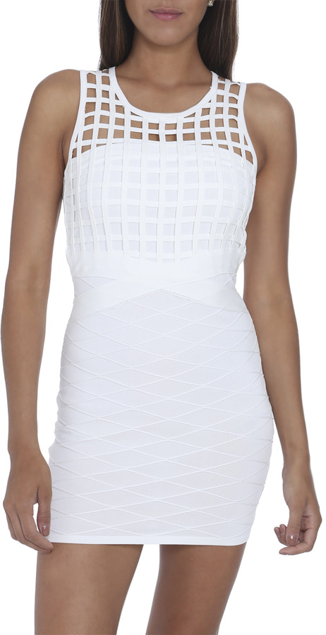 Arden B Cage Front Bandage Dress