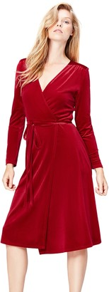 Find. Women's Dress in Wrap-over Velvet