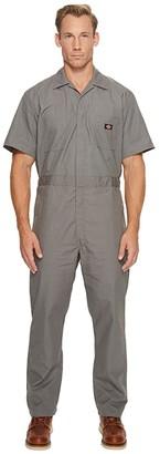 Dickies Short Sleeve Coveralls (Gray) Men's Overalls One Piece