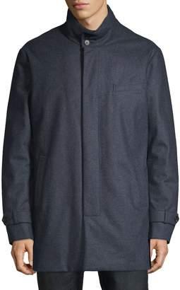 Norwegian Wool Stretch Wool Carcoat