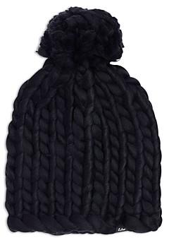 Echo Chunky Knit Pom Pom Beanie - 100% Exclusive