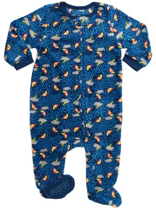 Leveret Blue Storm Footed Fleece Sleeper