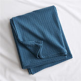 CB2 Hive Blue-Green King Blanket