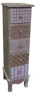 Bungalow Rose Keynes Wooden 5 Drawer Accent Chest