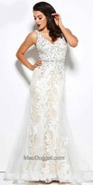 Mac Duggal Floral Embroidered A-line Evening Gown