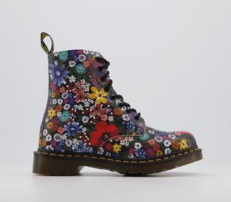 Dr. Martens 8 Eyelet Lace Up Boots Wanderlust Floral
