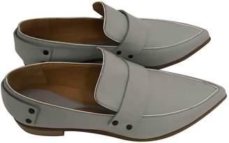 Alexander McQueen Grey Leather Flats