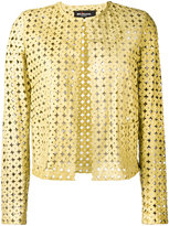 Kiton perforated leather jacket - women - Lamb Skin - 42