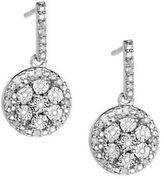 Finecraft Ii Sterling Silver 0.15TCW Diamond Disc Earrings