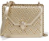 Bvlgari + Nicholas Kirkwood Embellished Metallic Leather Shoulder Bag - Gold