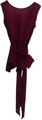 CNC Costume National Purple Silk Top for Women
