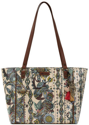 The Sak 108339SUNSD Artist Circle Double Handle Tote Bag