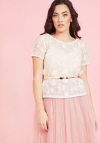 ModCloth Ever Graceful Entrance Floral Top in M
