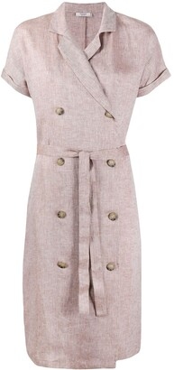 Peserico Double Breasted Linen Dress