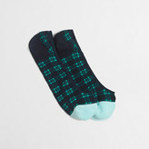 J.Crew Factory Blackwatch plaid no-show socks