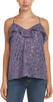 Ella Moss Cut-Out Silk-Blend Tank Top