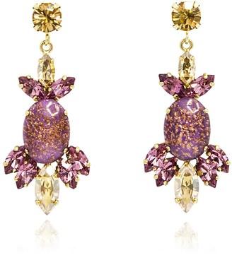 Rosaspina Firenze Purple Opera Chandelier Earrings