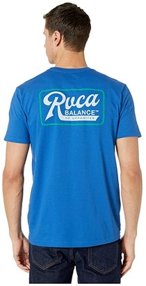 RVCA Mustang Short Sleeve (Bright Blue) Men's Clothing