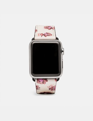 Coach Apple Watch Strap With Floral Print