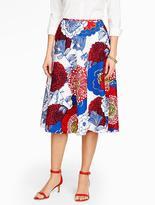 Talbots Poppies-Print Circle Skirt