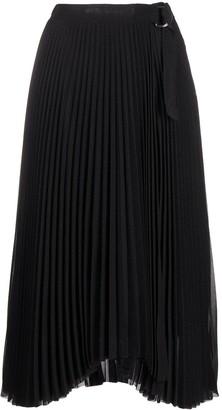 Calvin Klein Pleated Monogram Midi Skirt