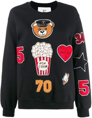 5 PROGRESS appliqué patch sweatshirt