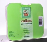 Clean + Easy Deluxe Pot Wax Drip Collars- 50ct by Clean & Easy