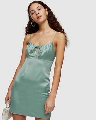 Topshop Gathered Bust Slip Dress