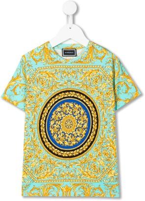 Versace Barocco print crew neck T-shirt