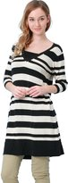 Sweet Mommy Organic Cotton Knit Striped Maternity and Nursing Tunic Dress BKB