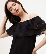 LOFT Scalloped Lace Off The Shoulder Top