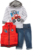Kids Headquarters Red Quilted Zip-Front Vest Set - Infant & Boys