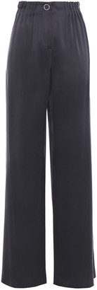 Giorgio Armani Pleated Mulberry Silk Straight-leg Pants