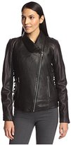Sam Edelman Women's Ava Leather Moto Jacket