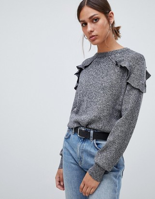 B.young flutter panel sweater