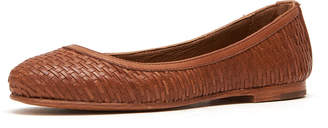Frye Carson Woven Leather Ballet Flats