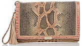 Brahmin Pachanga Collection Lily Tasseled Snake-Print Convertible Pouch