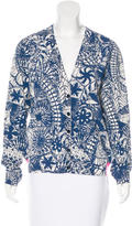 Tory Burch Printed V-Neck Cardigan w/ Tags