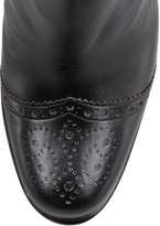 Stella McCartney Faux-Leather Wing-Tip Ankle Boot