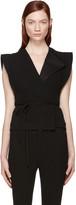 Isabel Marant Black Linen Fauna Vest