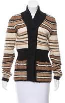Balenciaga Knit Striped Cardigan