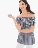 Chico's Boho Stripe Off-the-Shoulder Top