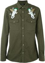 John Richmond Matuisa embroidered shirt - men - Cotton/Spandex/Elastane - M