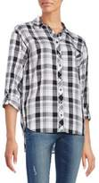 Kensie Relaxed-Fit Plaid Shirt
