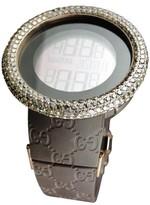 Gucci Digital Ya114209 Brown 10 Ct Diamonds 52Mm Bezel Mens Watch