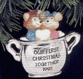 Hallmark Our First Christmas Together 1992 Ornament QX5061