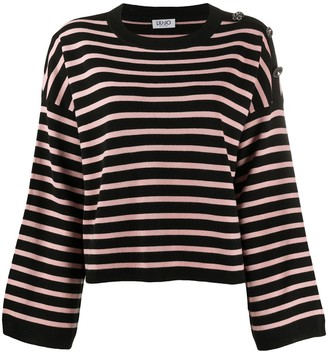 Liu Jo Striped-Print Buttoned Top